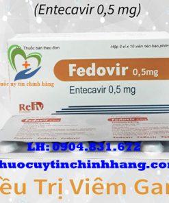 Thuốc Fedovir 0.5mg giá bao nhiêu